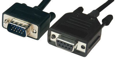 Serial cable, gauge to RS-232, DB-9
