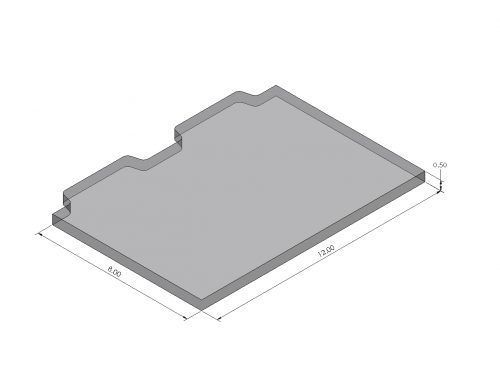 Inspection Arsenal Open-Sight™ Vision Fixture Plate: Blank OS-PLT Dimensions
