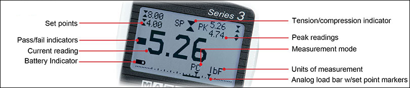 Series 3 Force Gauge Display Indicator