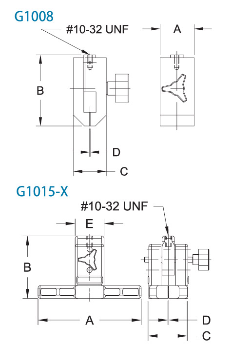 G1008-G1015 Dimensions