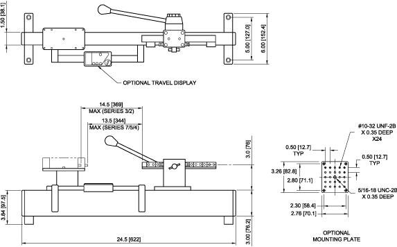 TSA750H Dimensions