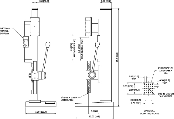 TSA750 Dimensions