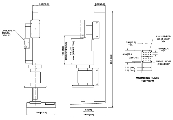 TSC1000 Dimensions