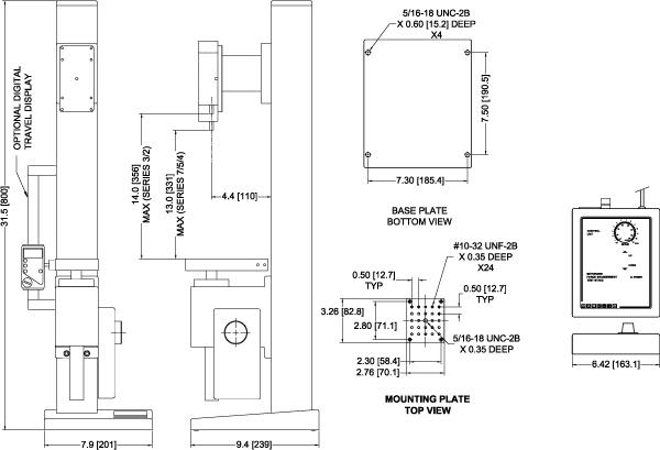 TSFM500-DC Vertical Test Stand