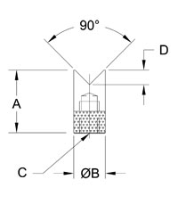 Mark-10 V-Groove Dimensions