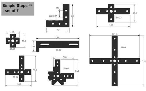 SYSM3_DK720TR03 CMM Fixture System (720mm Rail STARTER) Simple-Stop