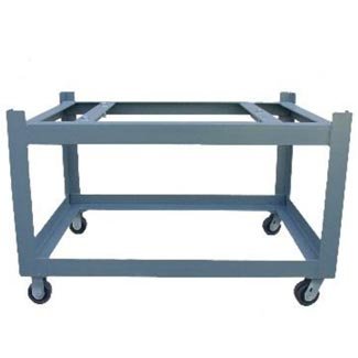 castered surface plate stand