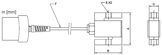 Mark-10 MR01 dimensions