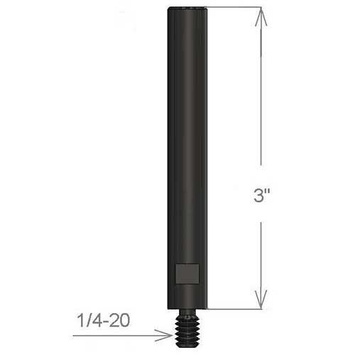 """Inspection Arsenal TRFN-SHAFT 3"""" Steel Shaft/Stand-off (4 pcs) Dimensions"""