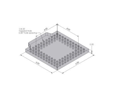 Inspection Arsenal OS-PLT Open-Sight™ Vision Fixture Plate Dimensions