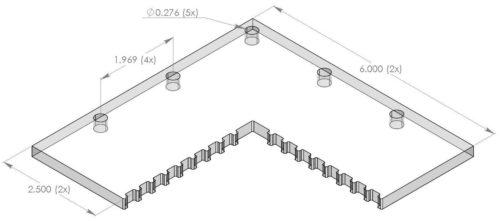 "Inspection Arsenal OS-CORNER-66 Vision Corner Block 6x6"""
