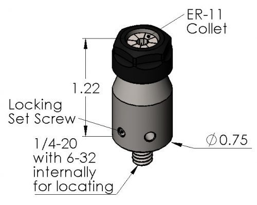 Inspection Arsenal CC-ER11 ER Collet Chuck