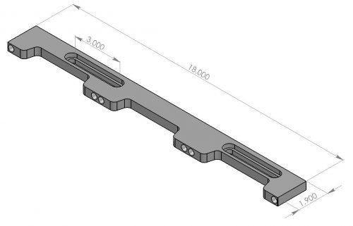 "Inspection Arsenal LNL-DOCK-18 Loc-N-Load™ 2 x 18"" Docking Rail"