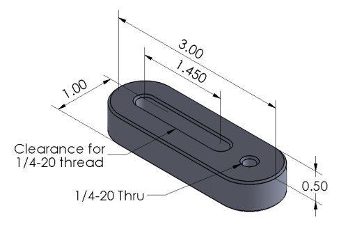 Inspection Arsenal HA-1420 Hole Adjuster for Trigger-Finger Hold Downs Dimensions