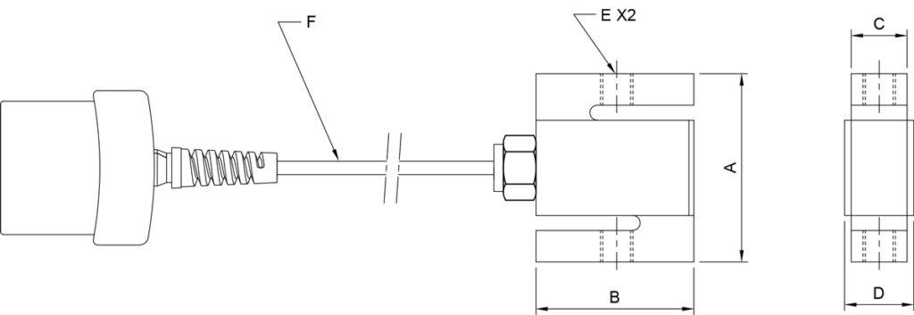 Mark-10 Series R07 Force Sensors Diagram