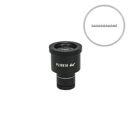 10mm/100 Div Eyepiece Field of View Dia. 18mm 10X Reticle Eyepiece ( Dia. 23.2/FN18) BM02011231