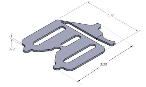 Inspection Arsenal SPR-LOC Spring-Loc™ Low-Profile Clamps (2 pcs) Dimensions