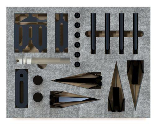"SYS01_DK06VIS01 Open-Sight Bundle: 6″ Dock, 6"" Plate"