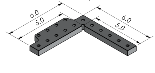 Inspection Arsenal LNL-ANGL-0603 Angle Plate-Stop for Loc-N-Load™