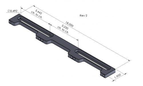 "Inspection Arsenal LNL-DOCK-12 Loc-N-Load™ 2 x 12"" Docking Rail"