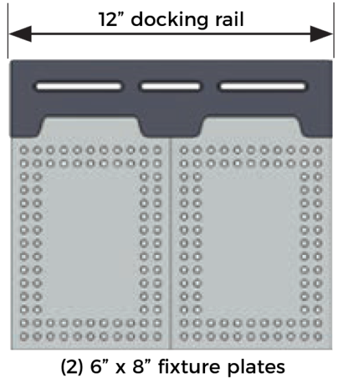 "Inspection Arsenal SYS03_DK12VIS01 Bundle 12"" Dock, (2) 6x8"" Plates"