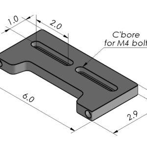 Inspection Arsenal OC-DOCK-06 Optical Comparator 6″ Docking Rail