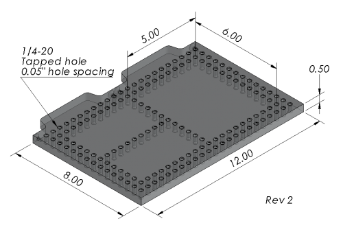 "SYS02_DK12VIS01 Open-Sight Bundle: 12″ Dock, 12"" Plate"