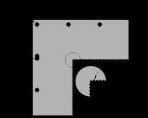 "Inspection Arsenal OS-CORNER-66 Vision Corner Block 6x6"" Dimensions"