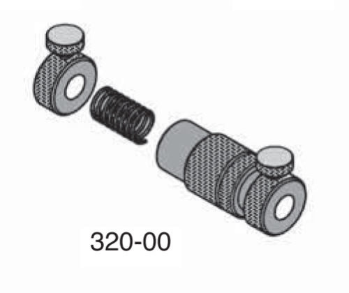 """Universal Punch 320-10 Ø 3/8"""" Adjustable Rod Stop with Spring, Locking Nut & Collar Stop"""